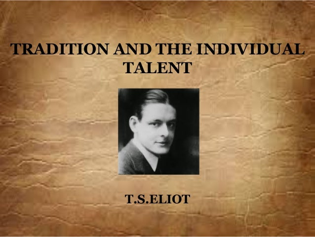 Tradition and individual talent Slide 2