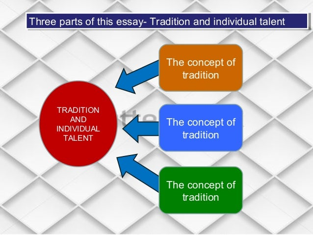 the importance of tradition in ts eliots tradition and the individual talent