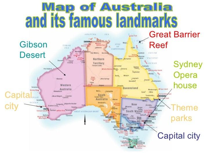 Australia Map Landmarks.My Culture