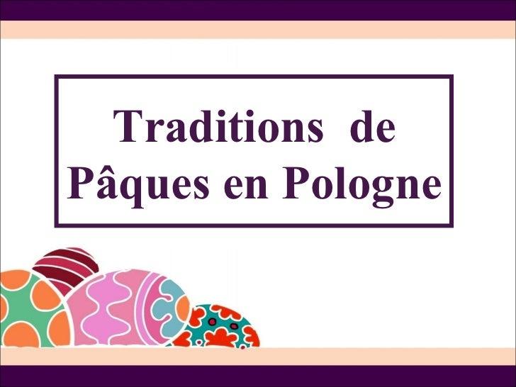 Traditions dePâques en Pologne