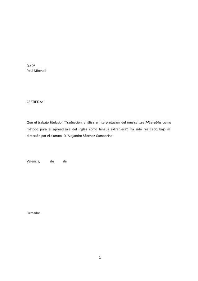 Traducción, análisis e interpretación del musical les miserables y efl