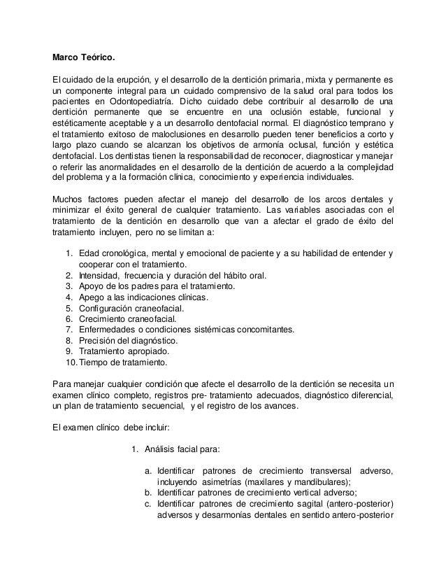 Traducción guía para el desarrollo de la oclusión AAPD