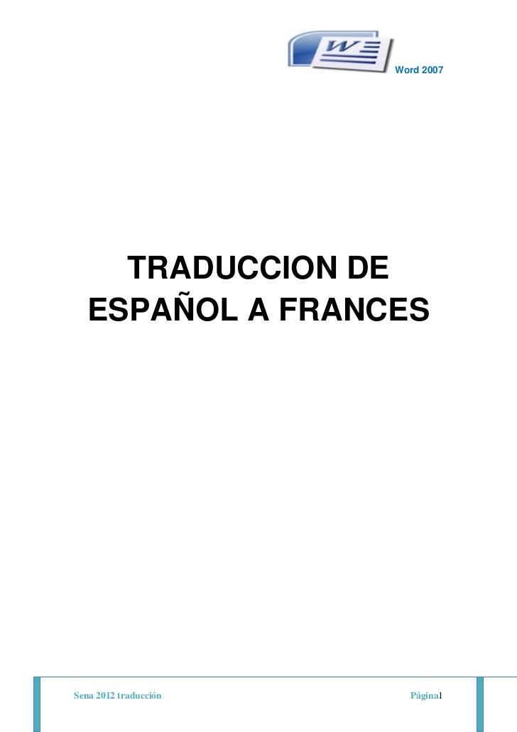 Traduccion de manual de word