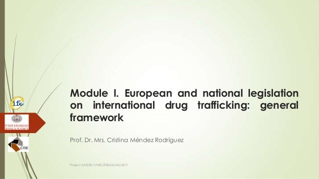 Module I. European and national legislation on international drug trafficking: general framework Prof. Dr. Mrs. Cristina M...