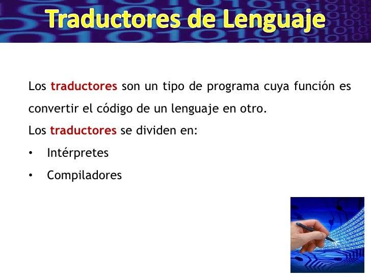 Traductores de lenguaje Slide 2