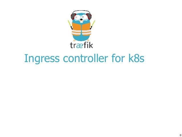 Ingress controller for k8s 1