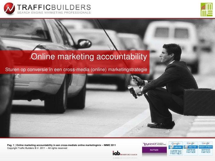 Online marketing accountability: conversie meten in een cross-mediale online marketing mix