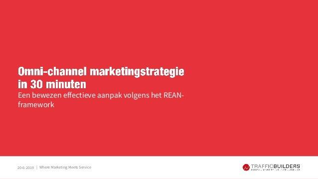 |20-6-2019 Een bewezen effectieve aanpak volgens het REAN- framework Where Marketing Meets Service