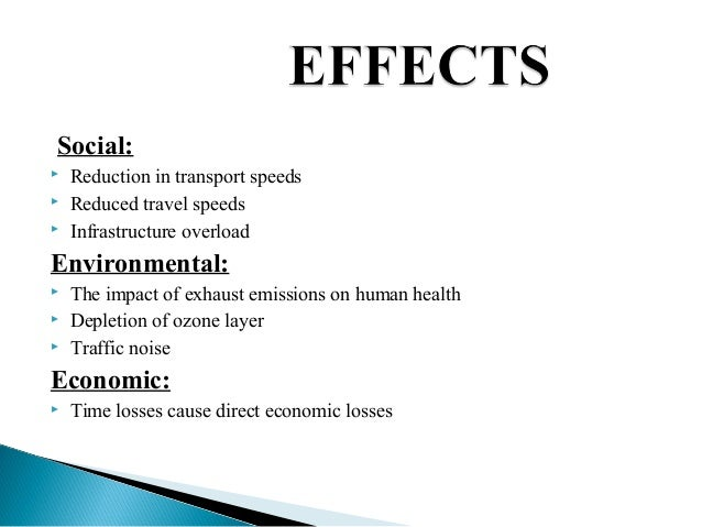 effects of traffic congestion on economy