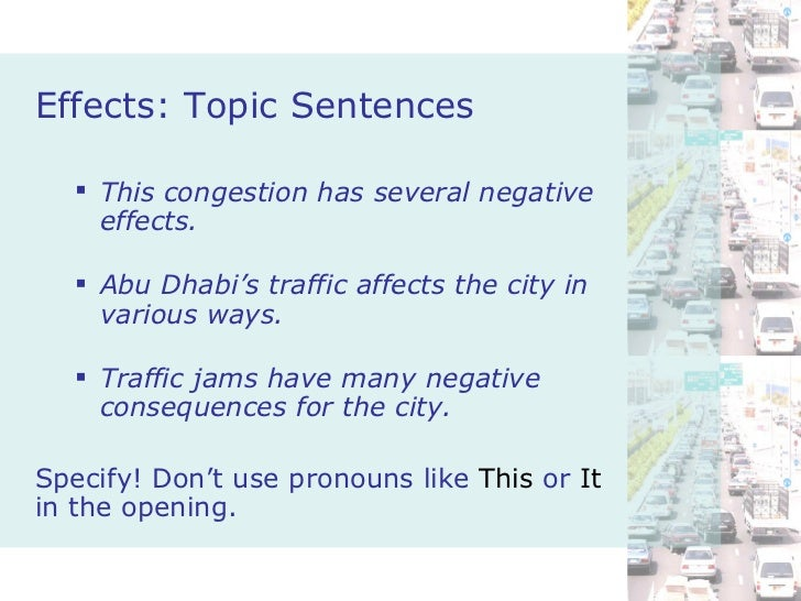 What causes traffic jams?