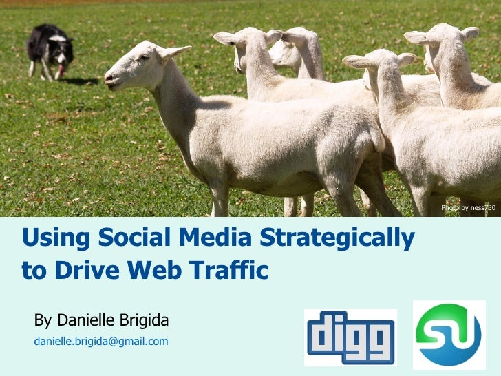 Using Social Media Strategically to Drive Web Traffic By Danielle Brigida [email_address]   Photo by ness730