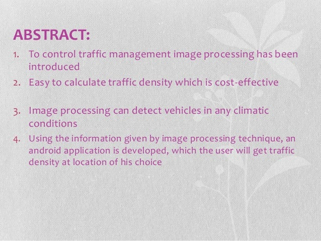 Traffic jam detection using image processing Slide 2