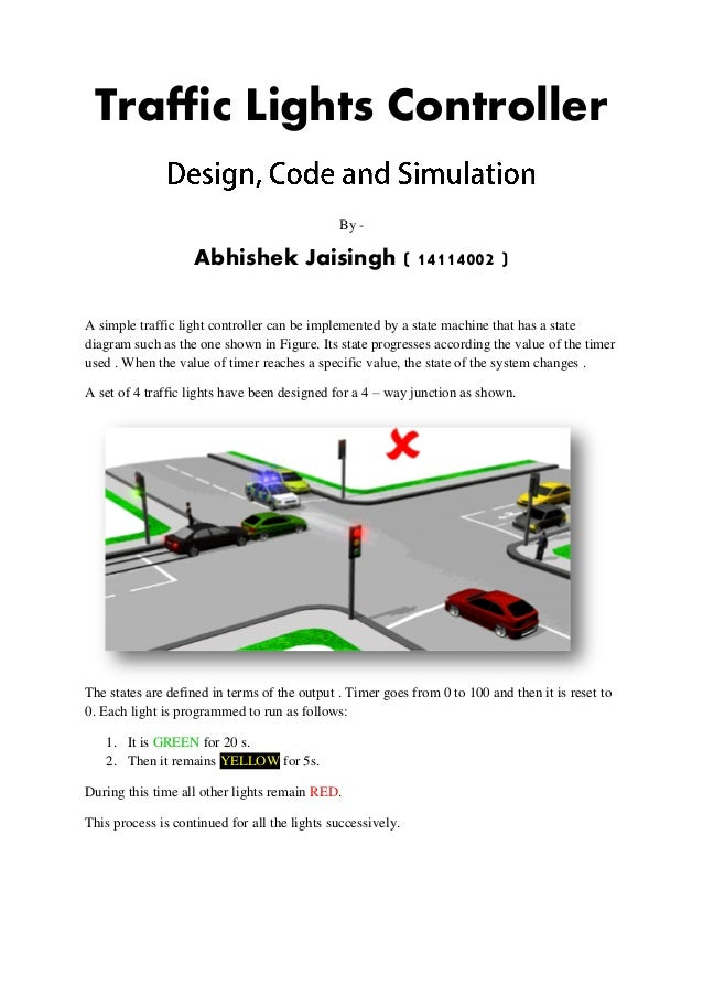 traffic lights controller in vhdl rh slideshare net traffic signs diagrams traffic light diagram