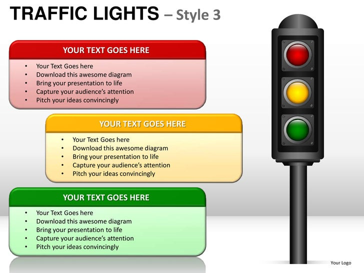 traffic lights style 3 powerpoint presentation templates rh slideshare net PowerPoint Storyboard PowerPoint Storyboard