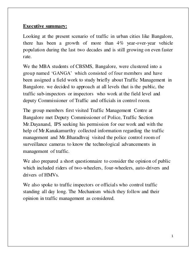 article on bangalore traffic