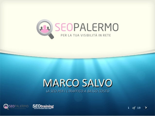 MARCO SALVOLA SEO PER I LTRAFFICO A BASSO COSTO                                       1   of 19