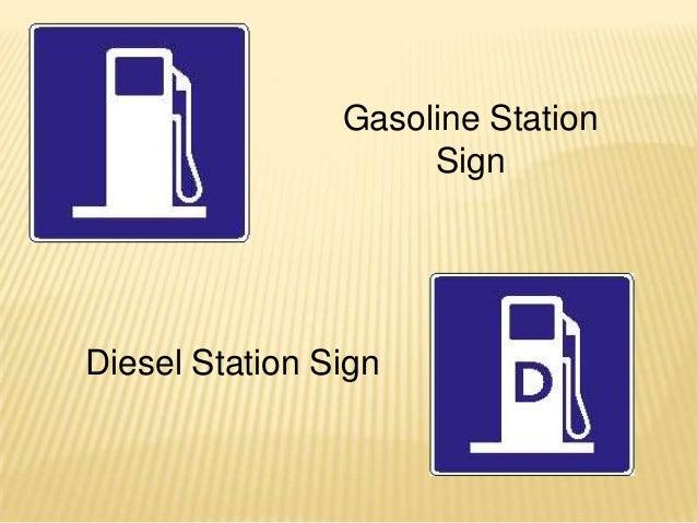Gasoline Station                     SignDiesel Station Sign