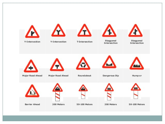 Traffic signs Y Intersection Sign