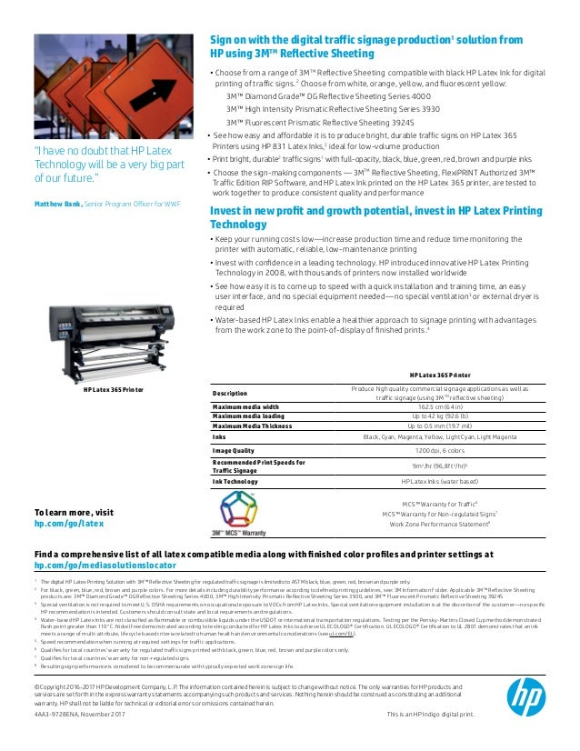 The HP Latex Printing Solution for Traffic Signage