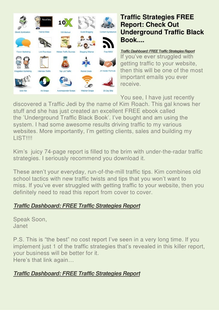 Traffic Strategies FREE                                             Report: Check Out                                     ...