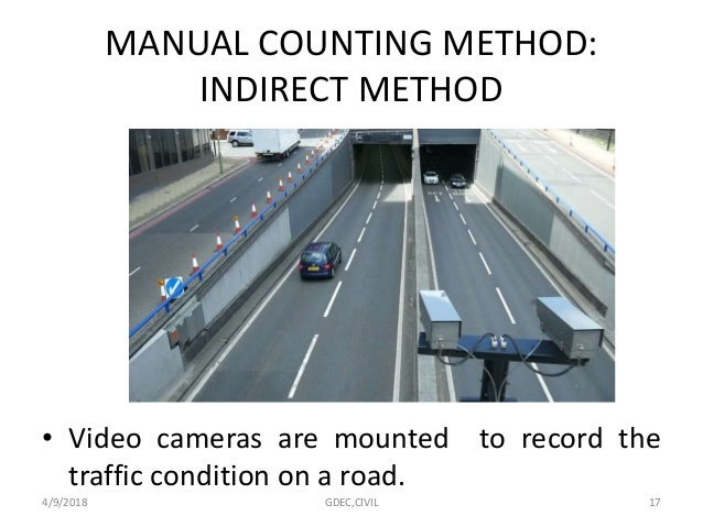 Traffic Counting Cameras