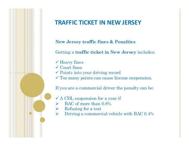 nj drivers license points speeding
