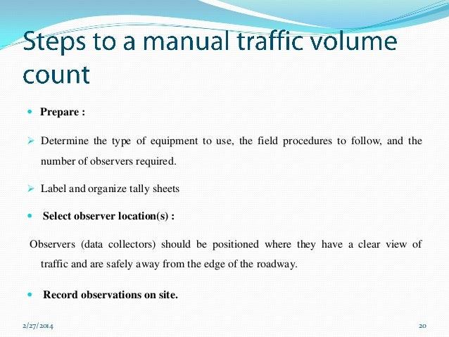 (PDF) Traffic Volume Study - ResearchGate