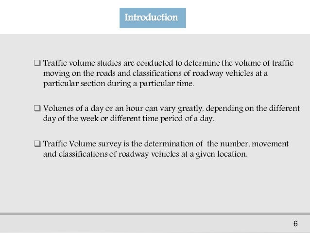 Traffic Volume Study (Presentation) | Request PDF