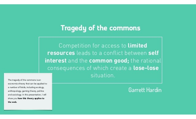 tragedy ofthe commons garrett hardin pdf