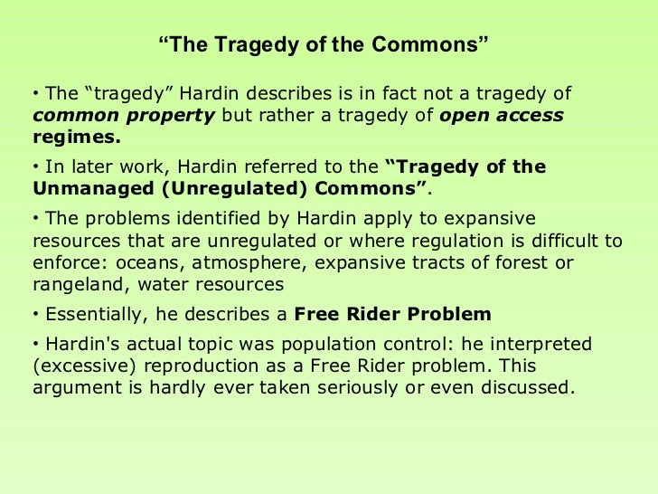 tragedy of the commons summary