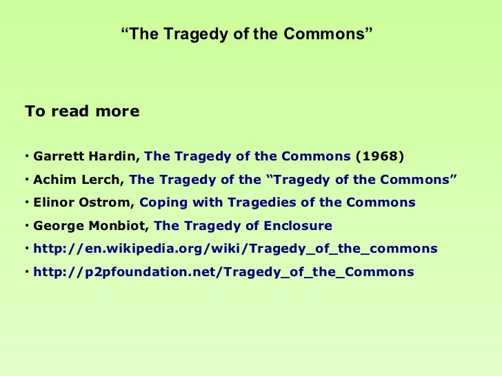Tragedy of the commons original essay