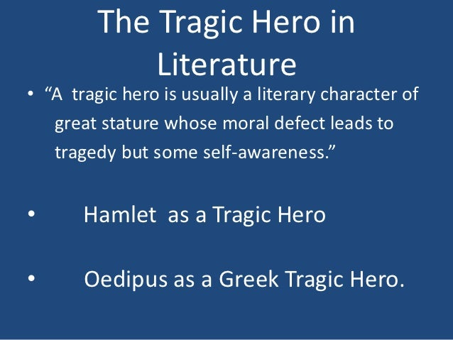 Tragic Hero Example