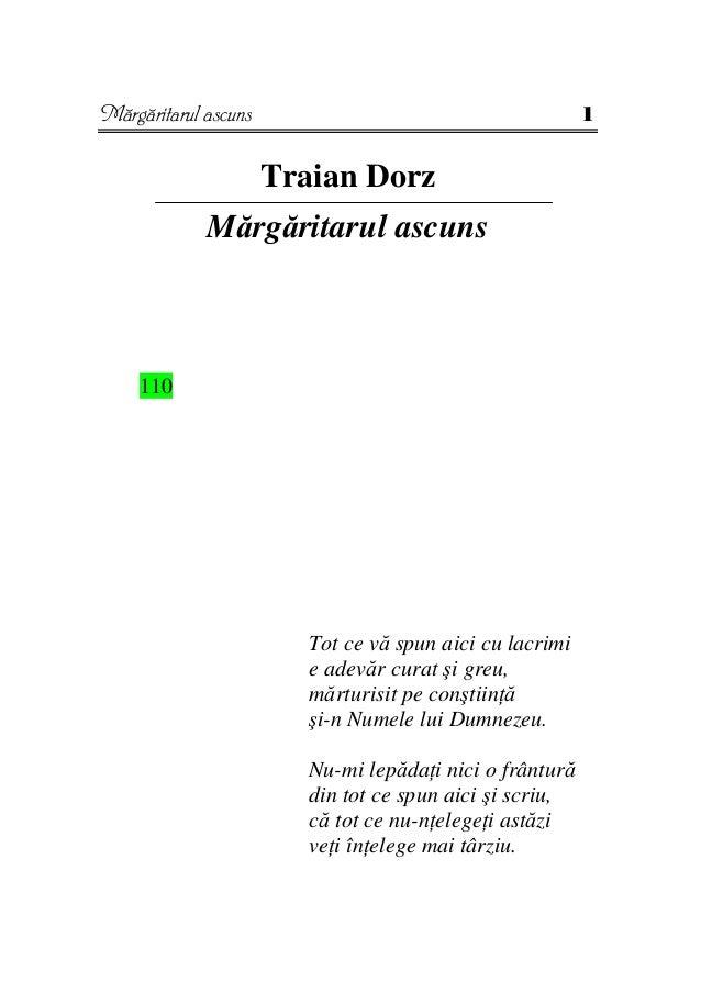 Mărgăritarul ascuns                                       1                      Traian Dorz             Mărgăritarul ascu...