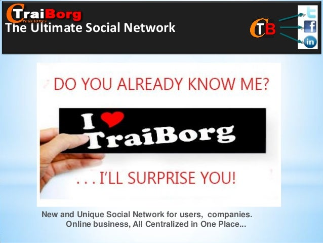 The Ultimate Social Network  New and Unique Social Network for users, companies. Online business, All Centralized in One P...