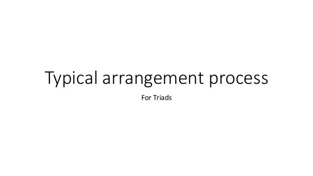 Typical arrangement process For Triads