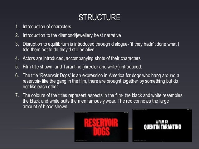 reservoir dogs character analysis