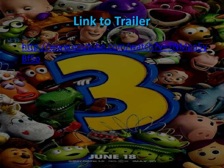 Trailer analysis toy story 3
