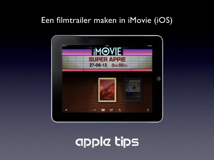 Een filmtrailer maken in iMovie (iOS)