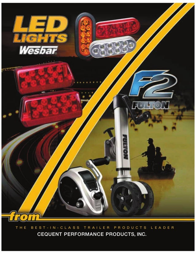 Wesbar 403080 Boat//Utility Trailer Waterproof//Sealed Recessed Tail Light