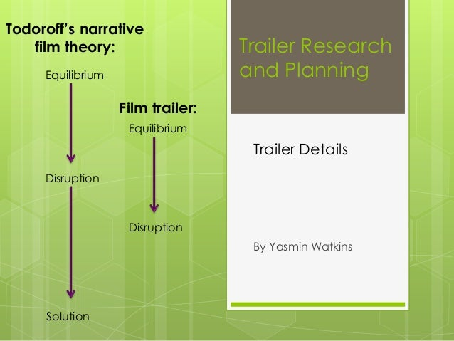 Todoroff's narrative film theory: Equilibrium  Trailer Research and Planning  Film trailer: Equilibrium  Trailer Details D...