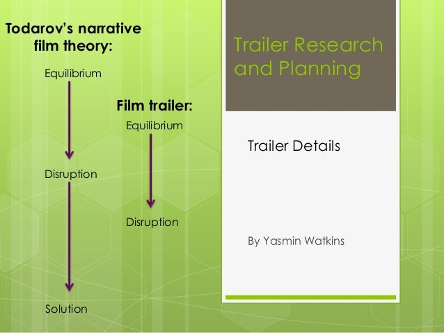 Todarov's narrative film theory: Equilibrium  Trailer Research and Planning  Film trailer: Equilibrium  Trailer Details Di...