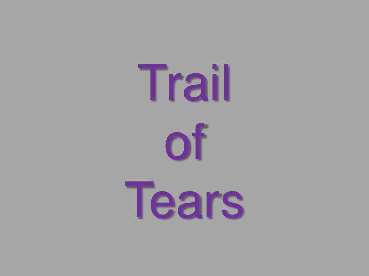 Trail  ofTears