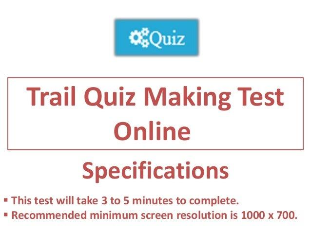 Trail Quiz Making Test Online
