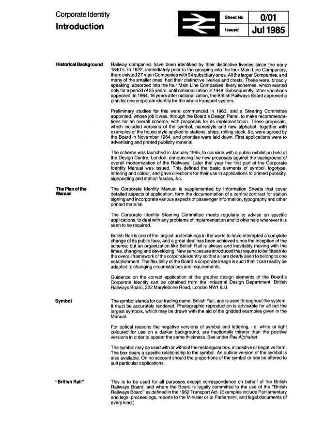 L'identité visuelle du British Rail en PDF !