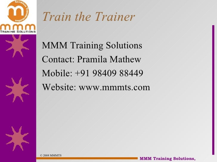 Train The Trainer Slide 2