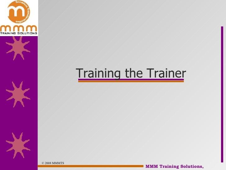 Train The Trainer Slide 3