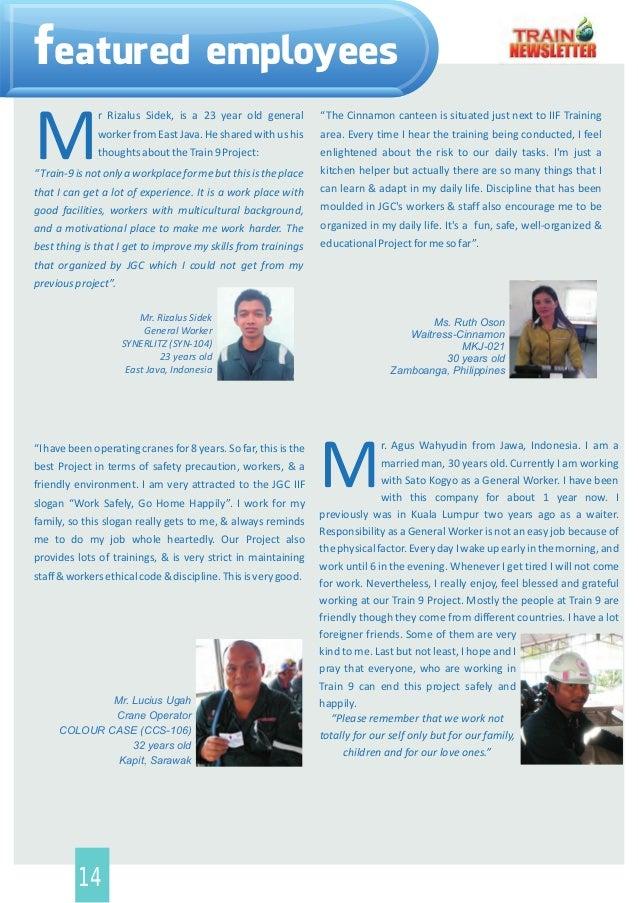 Train 9 Project newsletter 1st release