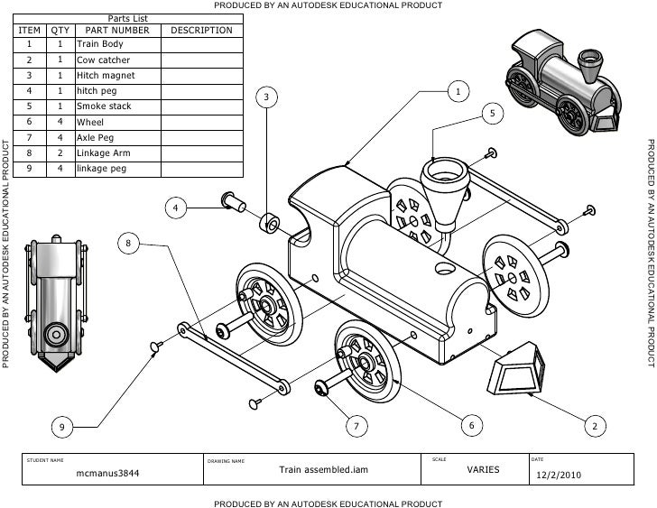 PRODUCED BY AN AUTODESK EDUCATIONAL PRODUCT                                                                Parts List     ...