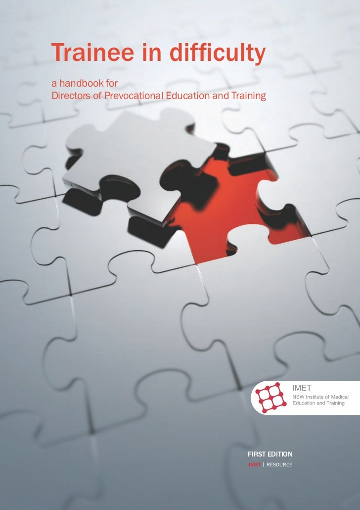 Trainee in difficultya handbook forDirectors of Prevocational Education and Training                                      ...