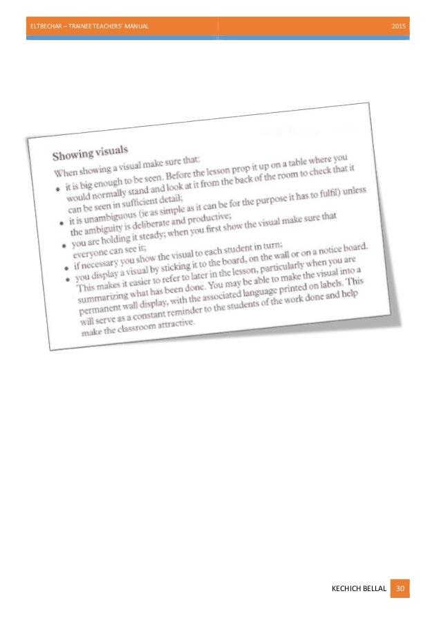 Trainee teachers' manual